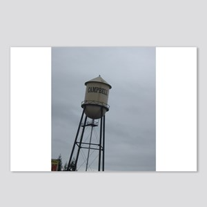Campbell water tower Postcards (Package of 8)