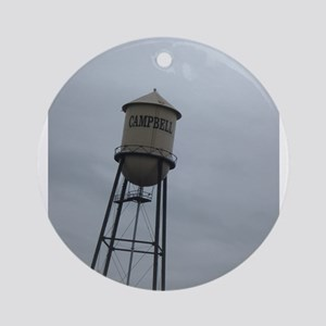 Campbell water tower Round Ornament