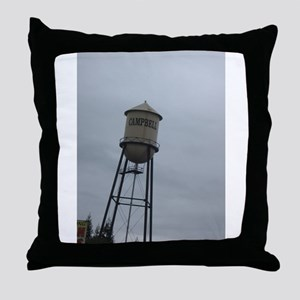 Campbell water tower Throw Pillow