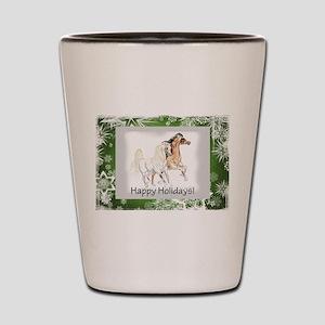 arabian horse holiday card Shot Glass
