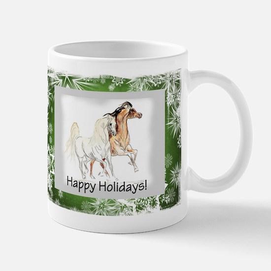 arabian horse holiday card Mugs