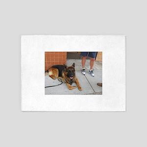 German shepherd dog 5'x7'Area Rug