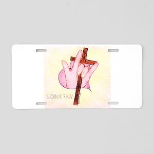 ASL ILY 1 John 4:7 Aluminum License Plate