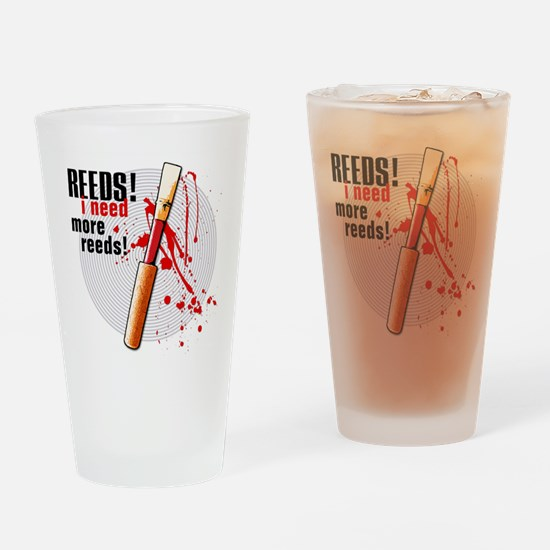 I Need More Reeds! Oboe Drinking Glass