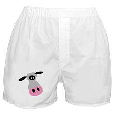 Cute Cartoon Cow Boxer Shorts
