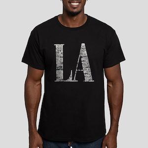 LA - Los Angeles Men's Fitted T-Shirt (dark)
