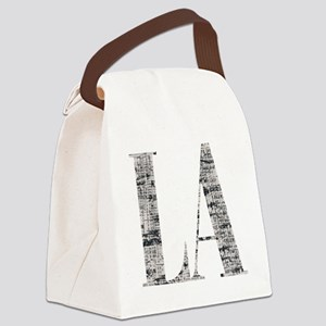 LA - Los Angeles Canvas Lunch Bag