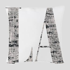 LA - Los Angeles Woven Throw Pillow