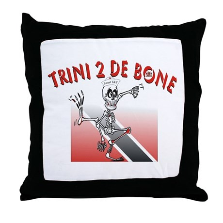 Trini 2 De Bone Throw Pillow