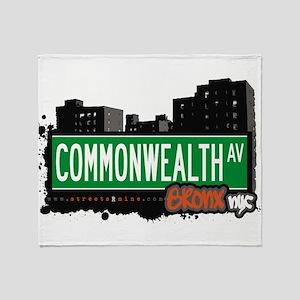 Commonwealth Ave Throw Blanket
