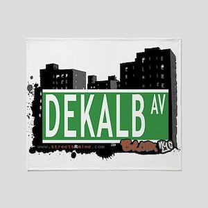 Dekalb Ave Throw Blanket