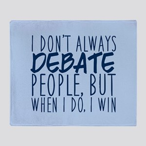 Debate Winner Throw Blanket