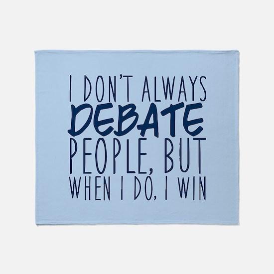 Debate Winner Throw Blanket