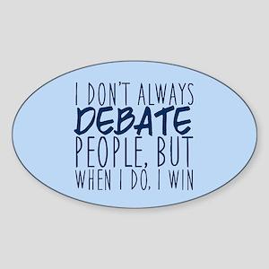 Debate Winner Sticker (Oval)
