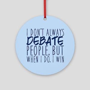 Debate Winner Round Ornament