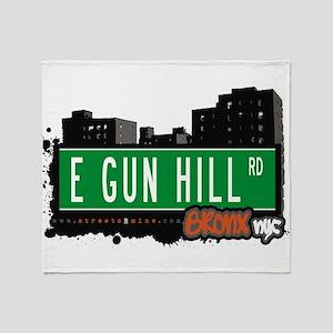 E Gun Hill Rd Throw Blanket
