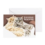 Cats Are Gods Card Greeting Cards