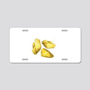 Gold Nuggets Aluminum License Plate