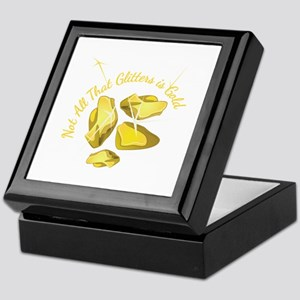 Gold Glitters Keepsake Box