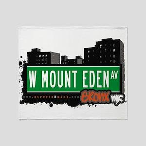 W Mount Eden Ave Throw Blanket
