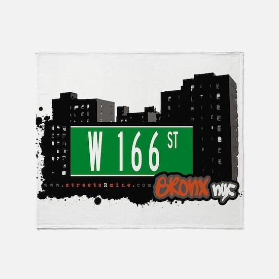 W 166 ST Throw Blanket