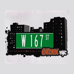 W 167 ST Throw Blanket