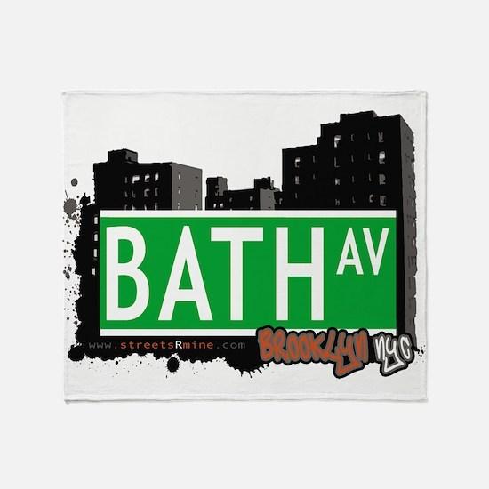 Bath avenue, BROOKLYN, NYC Throw Blanket