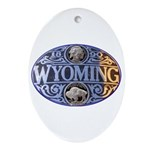 WYOMING Oval Ornament