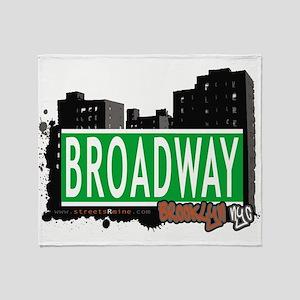 Broadway, BROOKLYN, NYC Throw Blanket