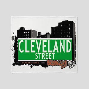 Cleveland street, BROOKLYN, NYC Throw Blanket