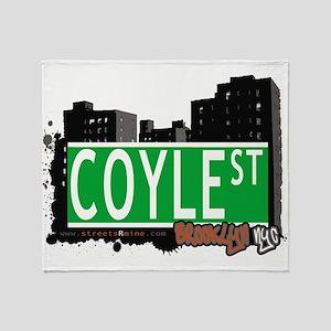 Coyle street, BROOKLYN, NYC Throw Blanket