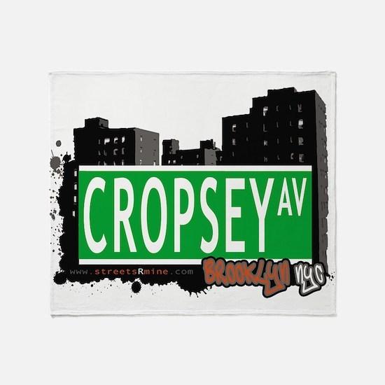 Cropsey avenue, BROOKLYN, NYC Throw Blanket