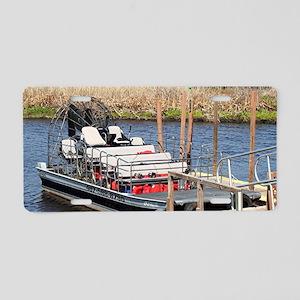 Florida swamp airboat Aluminum License Plate