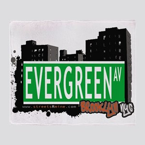 EVERGREEN AV, BROOKLYN, NYC Throw Blanket