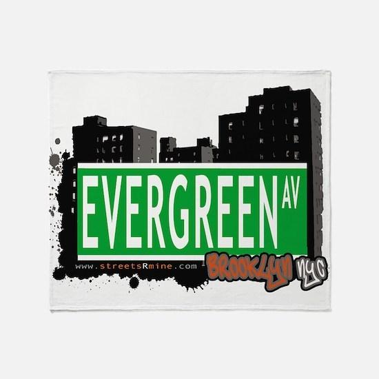 EVERGREEN AV, BROOKLYN, NYC Throw Blanket