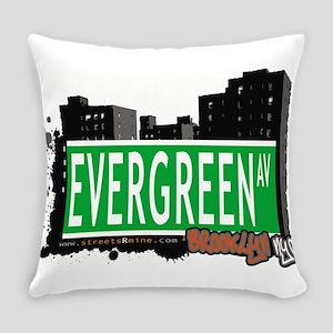 EVERGREEN AV, BROOKLYN, NYC Everyday Pillow