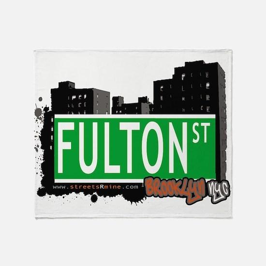 FULTON ST, BROOKLYN, NYC Throw Blanket