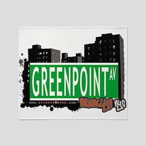 GREENPOINT AV, BROOKLYN, NYC Throw Blanket