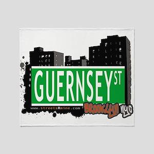 GUERNSEY ST, BROOKLYN, NYC Throw Blanket