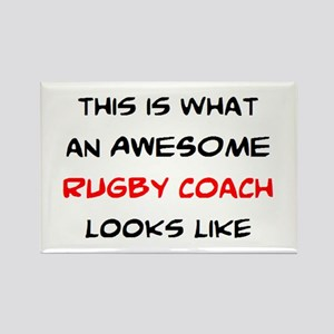 awesome rugby coach Rectangle Magnet