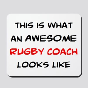 awesome rugby coach Mousepad