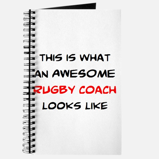 awesome rugby coach Journal
