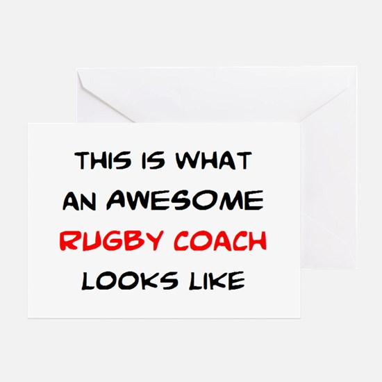 awesome rugby coach Greeting Card