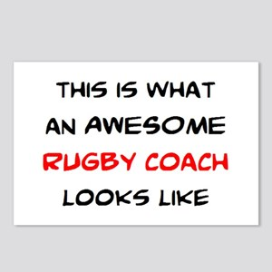 awesome rugby coach Postcards (Package of 8)