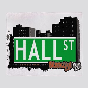 HALL ST, BROOKLYN, NYC Throw Blanket