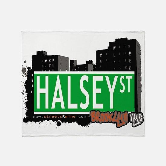 HALSEY ST, BROOKLYN, NYC Throw Blanket