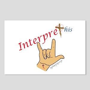 Interpret This. Jesus I l Postcards (Package of 8)