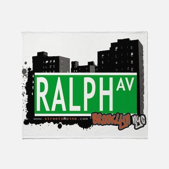RALPH AV, BROOKLYN, NYC Throw Blanket