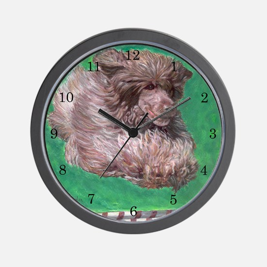 Portuguese Water Dog Agility  Wall Clock