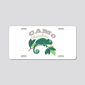 Camo Chameleon Aluminum License Plate